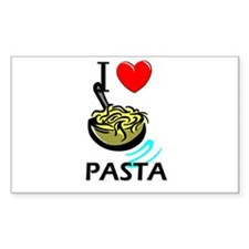 I Love Pasta Rectangle Decal