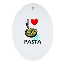 I Love Pasta Oval Ornament