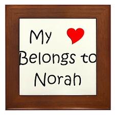 Funny Norah Framed Tile