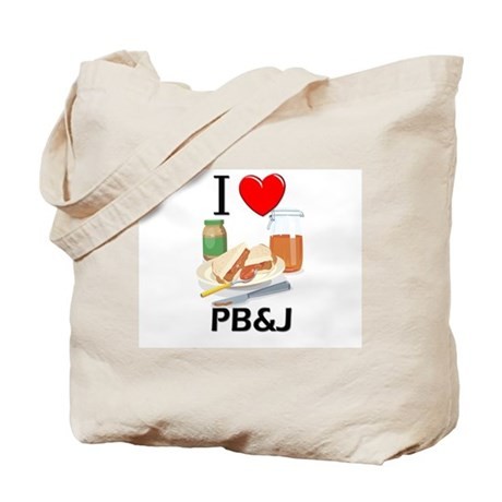 I Love Pb&J Tote Bag