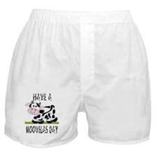 Cute Cow Moovalas day Boxer Shorts