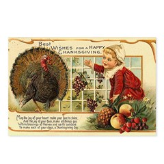 Thanksgiving Wishes Postcards (Package of 8)