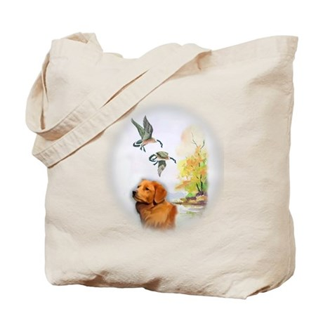 Duck Toller with geese Tote Bag