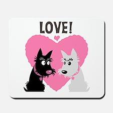 Scottie Westie Love Mousepad