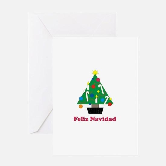 Feliz Navidad - Christmas Tre Greeting Card