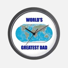 """World's Greatest Dad"" Wall Clock"