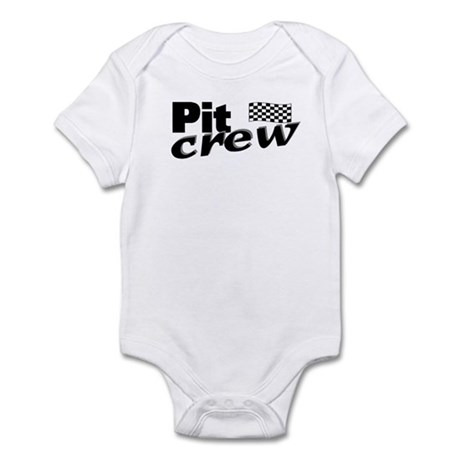 Pit Crew Racing Flag Infant Bodysuit