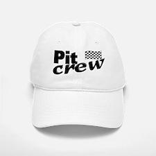 Pit Crew Racing Flag Baseball Baseball Cap