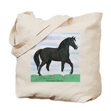 Black Morgan Horse Tote Bag