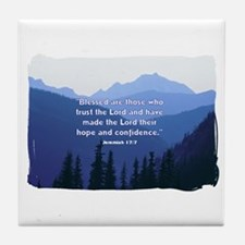 Hope in the Lord Tile Coaster