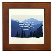 Hope in the Lord Framed Tile
