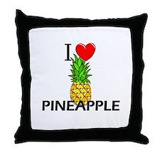 I Love Pineapple Throw Pillow