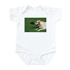 Funny Labrador playing Infant Bodysuit