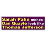 Sarah Palin, Dan Quayle and Thomas Jefferson