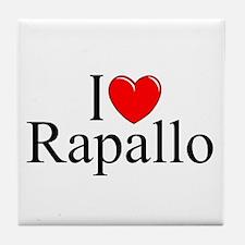 """""""I Love (Heart) Rapallo"""" Tile Coaster"""