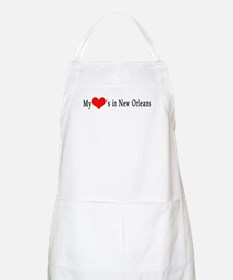My Heart's in New Orleans BBQ Apron