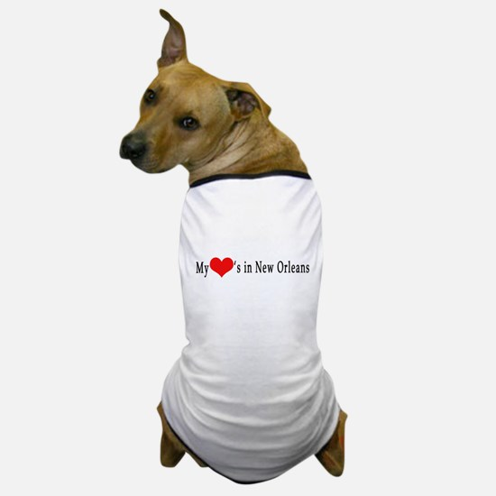 My Heart's in New Orleans Dog T-Shirt