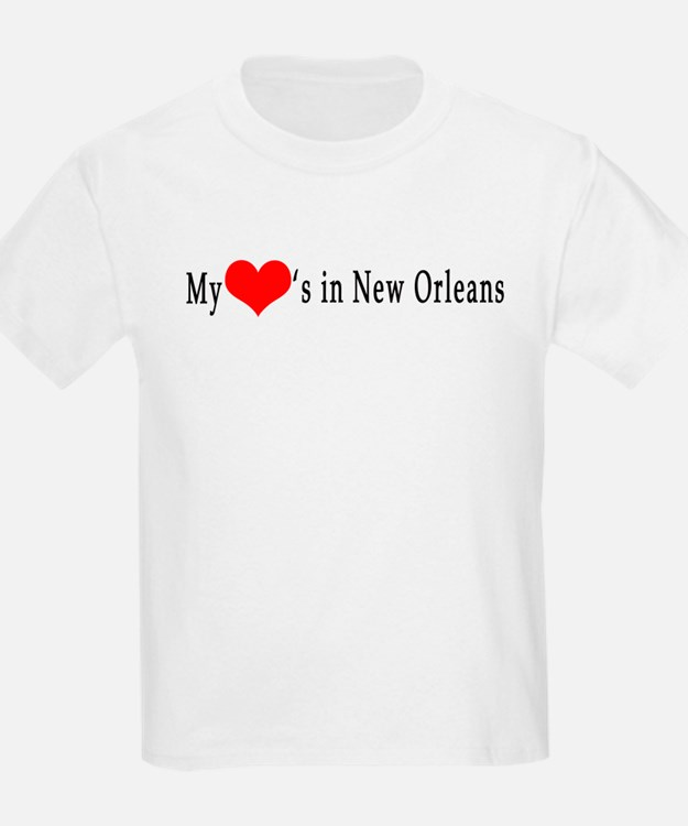 My Heart's in New Orleans Kids T-Shirt
