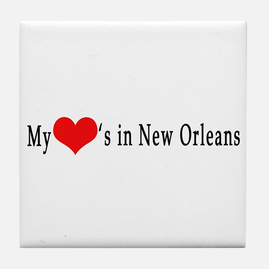 My Heart's in New Orleans Tile Coaster