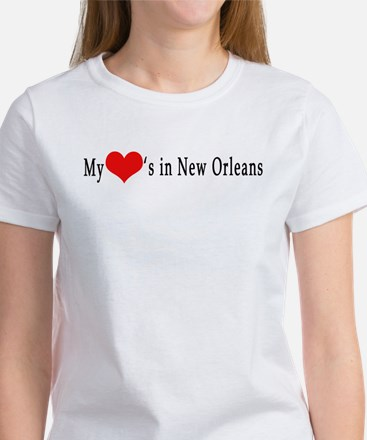 My Heart's in New Orleans Women's T-Shirt