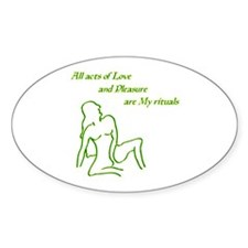 All Acts Oval Sticker (10 pk)