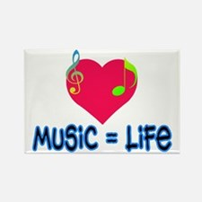 Music = Life Rectangle Magnet
