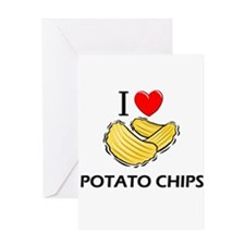 I Love Potato Chips Greeting Card