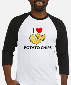 I Love Potato Chips Baseball Jersey
