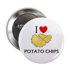 """I Love Potato Chips 2.25"""" Button"""