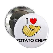 """I Love Potato Chips 2.25"""" Button (10 pack)"""