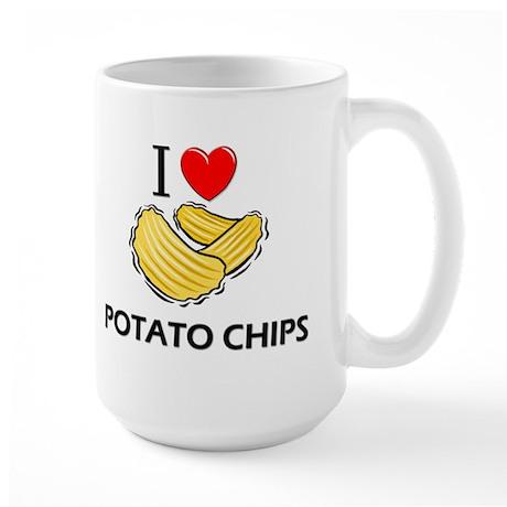 I Love Potato Chips Large Mug