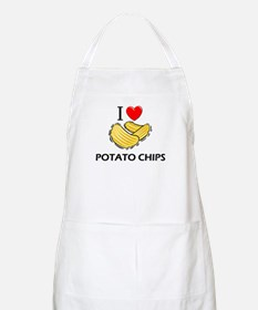 I Love Potato Chips BBQ Apron