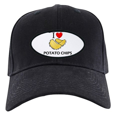 I Love Potato Chips Black Cap