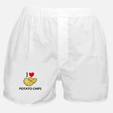 I Love Potato Chips Boxer Shorts