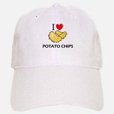 I Love Potato Chips Baseball Baseball Cap