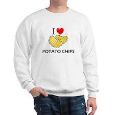 I Love Potato Chips Sweatshirt