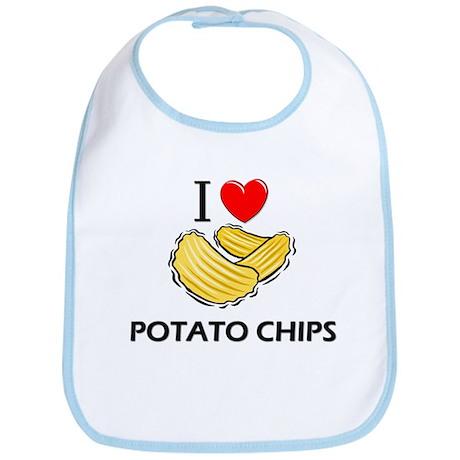 I Love Potato Chips Bib