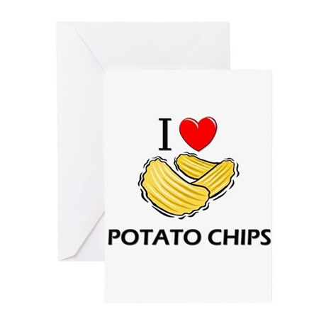 I Love Potato Chips Greeting Cards (Pk of 10)