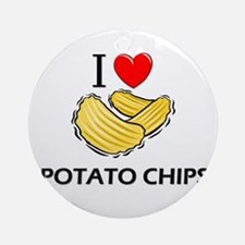 I Love Potato Chips Ornament (Round)
