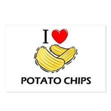 I Love Potato Chips Postcards (Package of 8)
