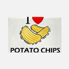 I Love Potato Chips Rectangle Magnet