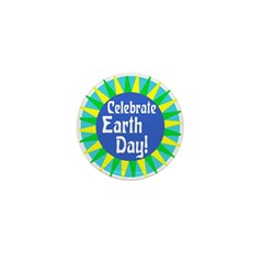 Celebrate Earth Day (100 Mini Buttons)
