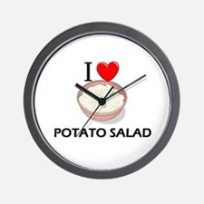 I Love Potato Salad Wall Clock