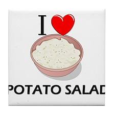 I Love Potato Salad Tile Coaster