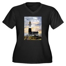 Montauk Point lighthouse New Women's Plus Size V-N