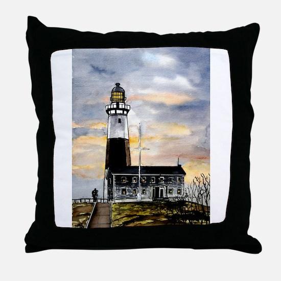 Montauk Point lighthouse New Throw Pillow