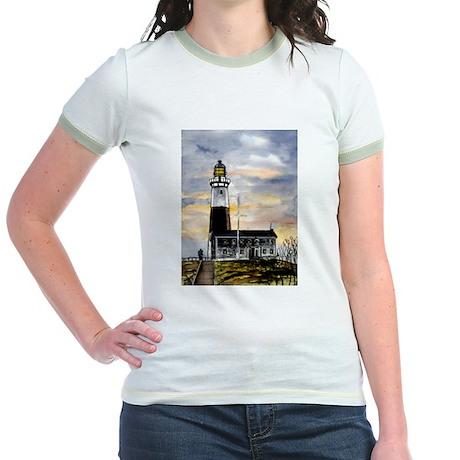 Montauk Point lighthouse New Jr. Ringer T-Shirt