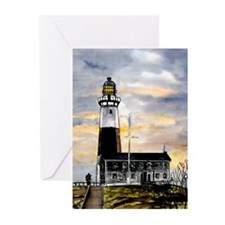 Montauk Point lighthouse New Greeting Cards (Pk of