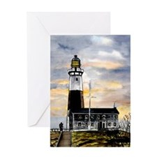 Montauk Point lighthouse New Greeting Card