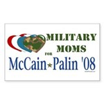 Military Moms for McCain Palin Rectangle Sticker